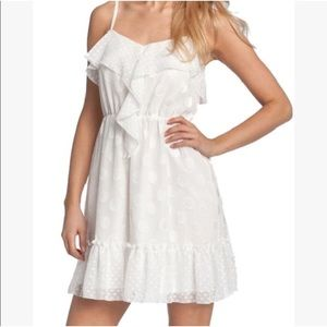 Jessica Simpson White Polkadot Ruffle Dress